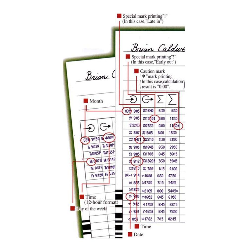 QR395 Clock Card Example